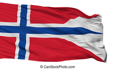 Norway State Flag Isolated Seamless Loop - Norway State...