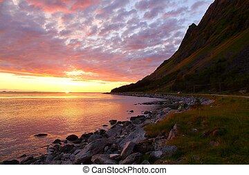 Norway sunset landscape