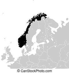 Norway with neighboring European countries