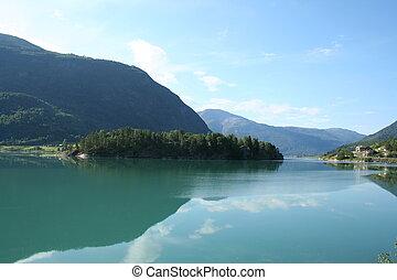 norweg, fiordy
