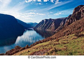 norwegen, fjord, landschaftsbild