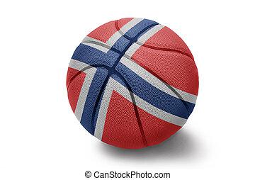 Norwegian Basketball - Basketball ball with the national...