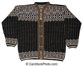 Norwegian Black Sweater - A traditional Norwegian black...