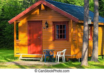 Norwegian camp  - house in the woods, norwegian camp