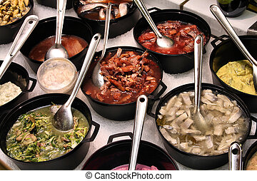 Norwegian cuisine - Smorgasbord in Norway - seafood choice...