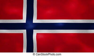 Norwegian dense flag fabric wavers, background loop