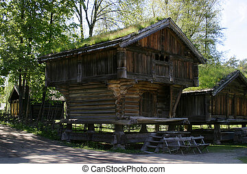Norwegian Farm House - Norwegian farm house at the folk...