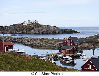 Norwegian fishing houses - Norwegian rorbu fishing houses...