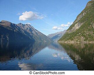 Norwegian fjord - Taken in Geiranger, Norway