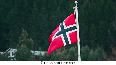 Norwegian Flag - Graded and stabilized version. Watch also...