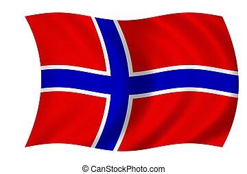 norwegian flag - waving flag of norway
