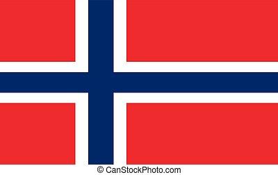 Norwegian Flag, vector illustration