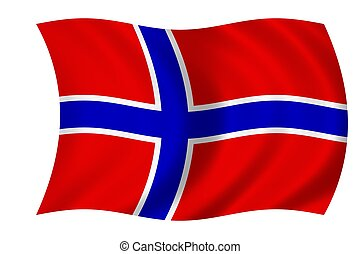 norwegian flag - waving flag of norway
