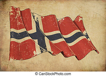 Norwegian Grunge Flag Textured Background Wallpaper