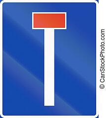 Norwegian information road sign - Dead end
