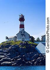 Norwegian lighthouse - The lighthouse on the norwagian...