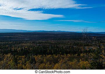 Norwegian mountain in beautiful fall colors