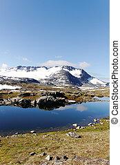 Norwegian mountains in summer.