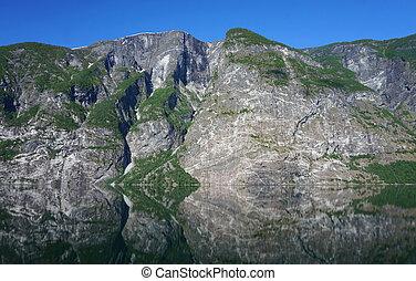Norwegian mountains, reflection