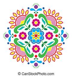 Norwegian traditional folk art - Vector colorful background...