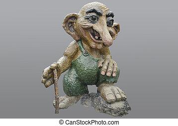 norwegian troll - a troll statue in bergen, norway