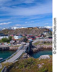 Norwegian village on the island Skrova