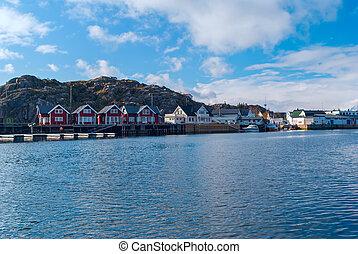 Norwegian village on the Lofoten islands