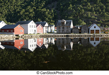 Norwegian wooden houses