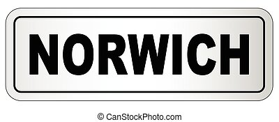 Norwich City Nameplate - The city of Norwich nameplate on a...