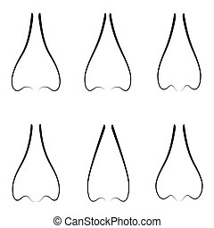 nose icon set