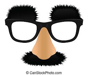 Nose - Unprofitable a nose moustaches and eyebrows. A vector...