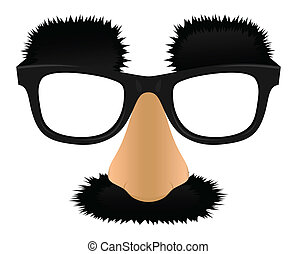 Unprofitable a nose moustaches and eyebrows. A vector illustration