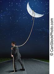 nosić, księżyc