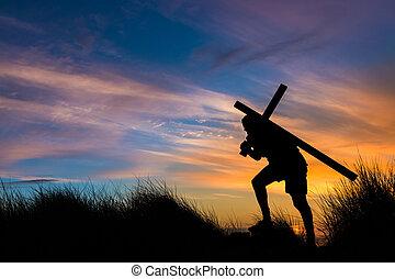 nosić, własny, twój, krzyż