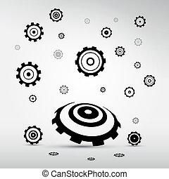 noski, abstrakcyjny, wektor, -, mechanizmy