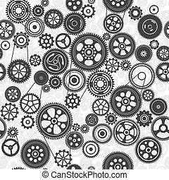 noski, czarnoskóry, seamless, tło, mechanizmy