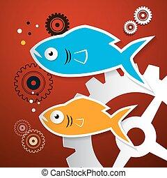 noski, fish, -, mechanizmy