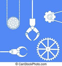 noski, herb, chains., mechaniczny, &