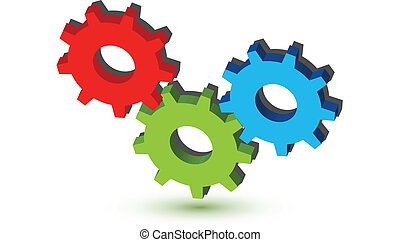 noski, logo, bonding, (gears)