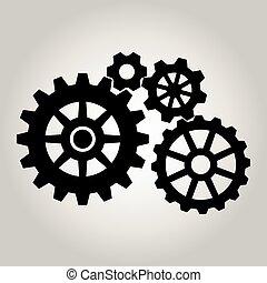 noski, przybory, czarnoskóry, vector., 4, mechaniczny