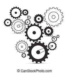 noski, tło, -, mechanizmy, wektor, biały