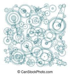 noski, wektor, mechanizmy, tło, biały, przeźroczysty