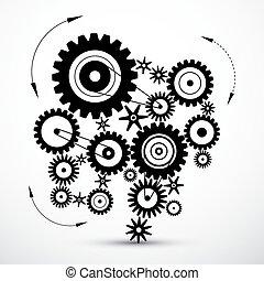 noski, wektor, -, mechanizmy, wheals