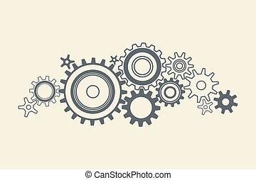 noski, związany, mechanizmy