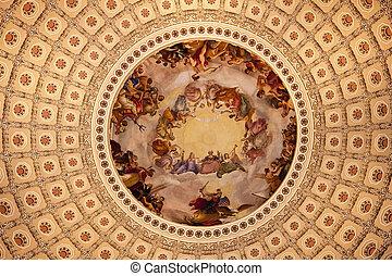nosotros, apothesis, washington george, cc, bóveda del capitol, rotonda