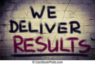 nosotros, concepto, entregar, resultados