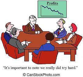 nosotros, duro, ventas, despite, tratar, really