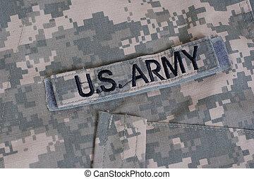 nosotros ejército, camuflado, uniforme