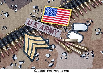 nosotros ejército, concepto, en, camuflaje, uniforme