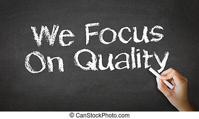 nosotros, foco, en, calidad